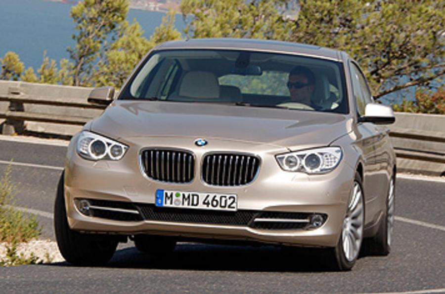BMW 5 Series GT cornering