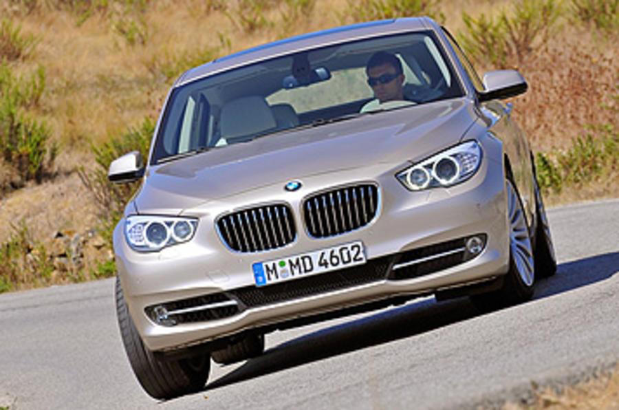 BMW 5 Series GT hard cornering