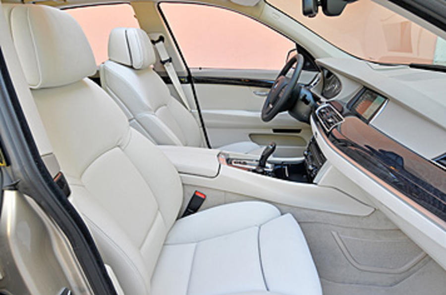 BMW 5 Series GT front seats