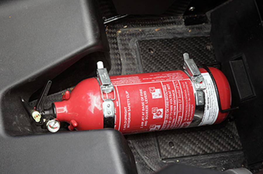 KTM X-Bow 300 fire extinguisher
