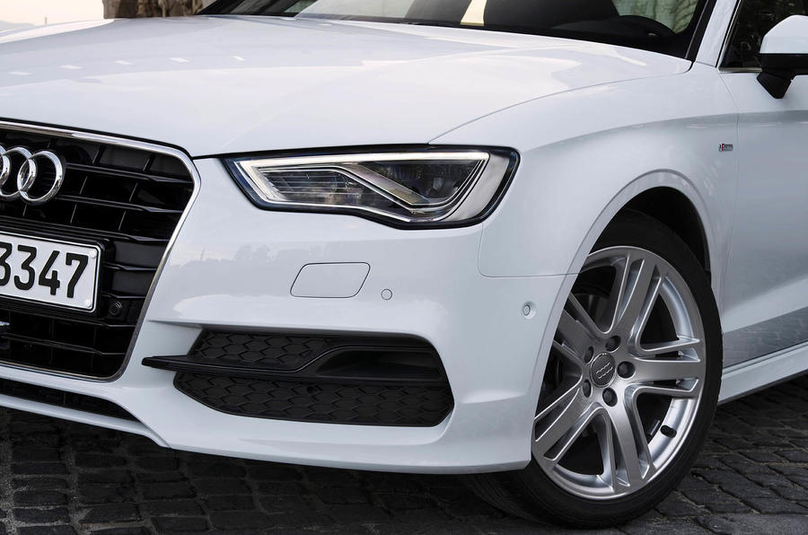 Audi A3 Saloon's headlights