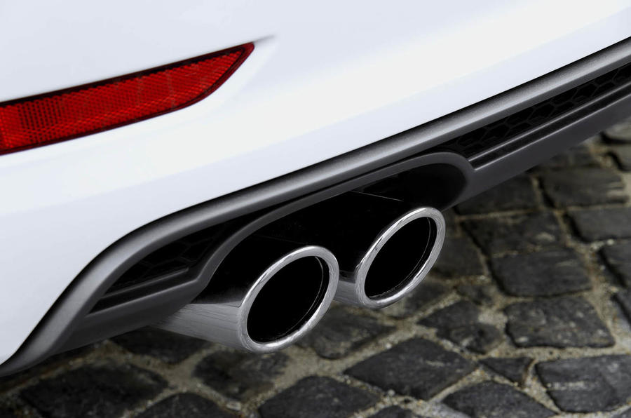 Audi A3 Saloon's twin exhausts