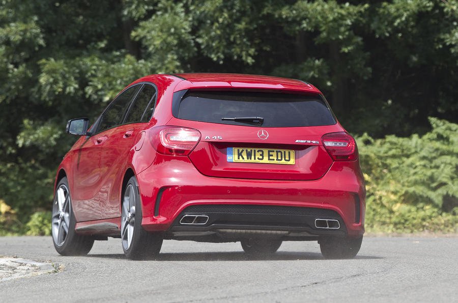 Mercedes-AMG A 45 rear cornering