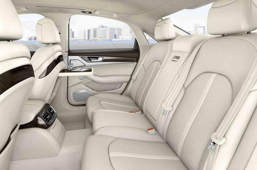 Audi A8 3.0 TDI rear seats