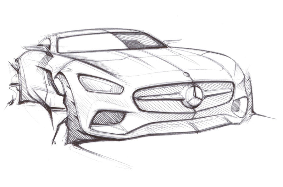 A preview of the Mercedes-AMG GT with the company's