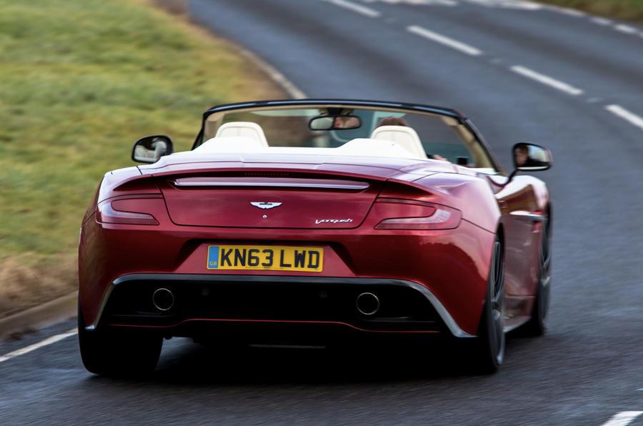 Aston Martin Vanquish Volante roof down