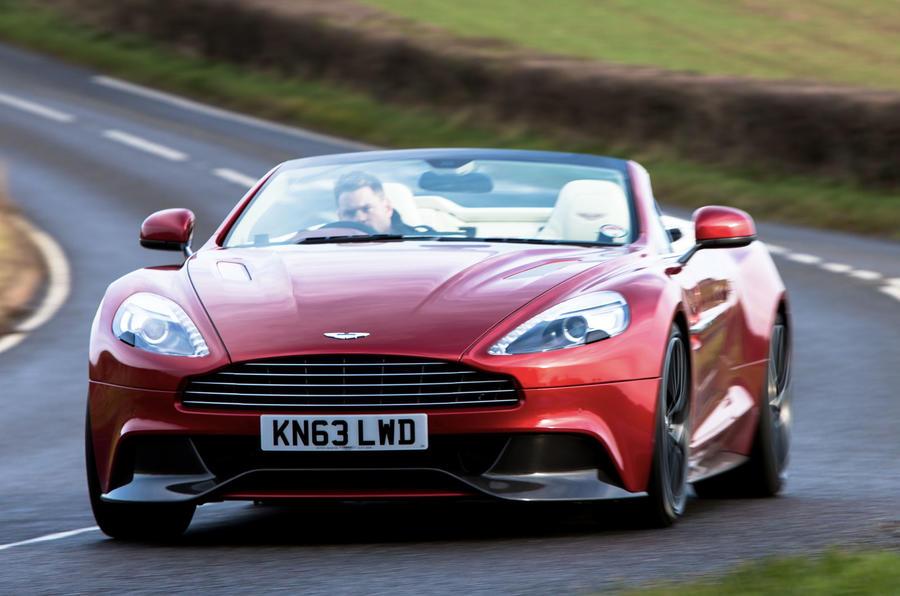 Aston Martin Vanquish Volante cornering