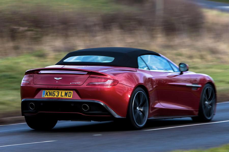 Aston Martin Vanquish Volante rear