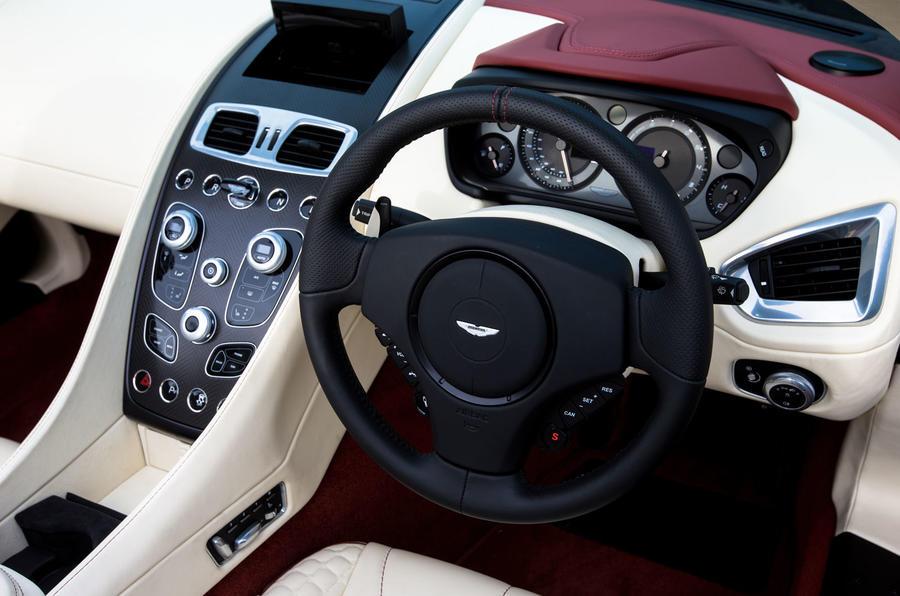 Aston Martin Vanquish Volante steering wheel