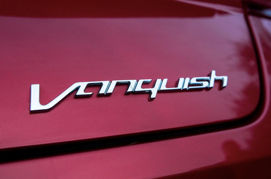 Aston Martin Vanquish badging