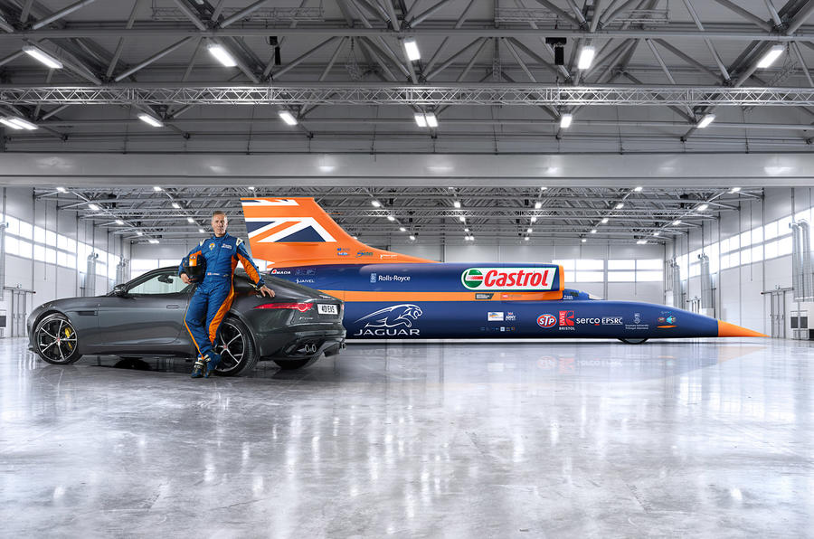 Bloodhound to use Jaguar V8 engine in 1000mph bid