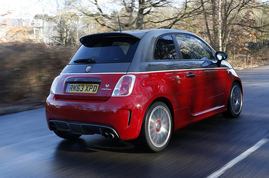 Abarth 595 rear quarter