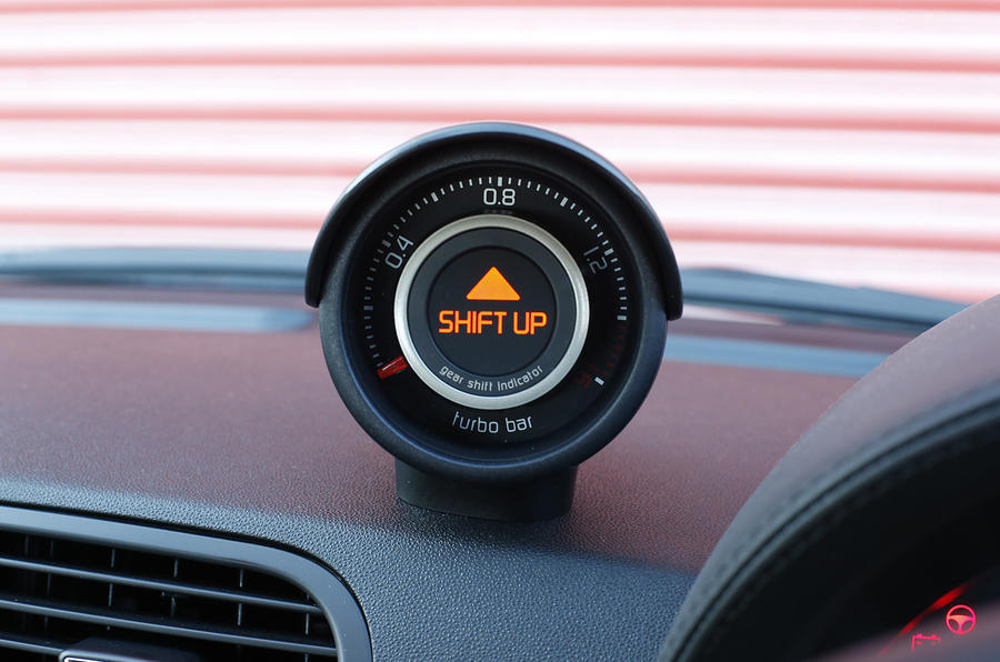 Abarth 595 boost gauge