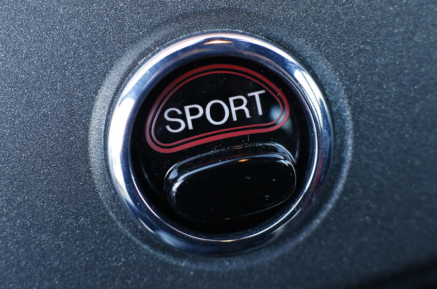 Abarth 595 Sport button