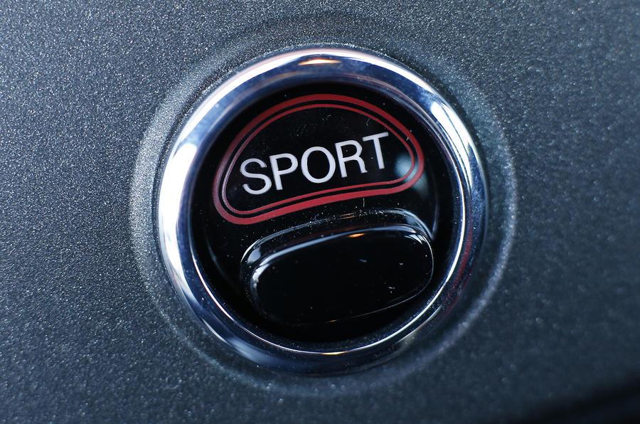 Abarth 595 Sport button