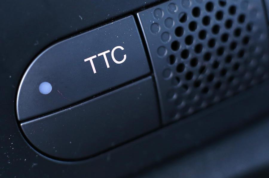 Abarth 595 TTC button