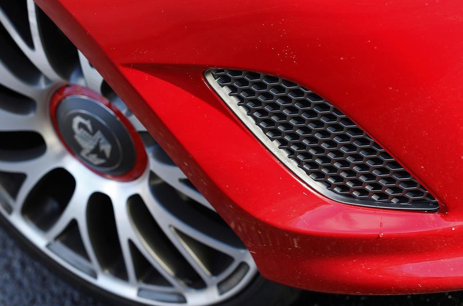 Fiat Abarth 595 air intakes