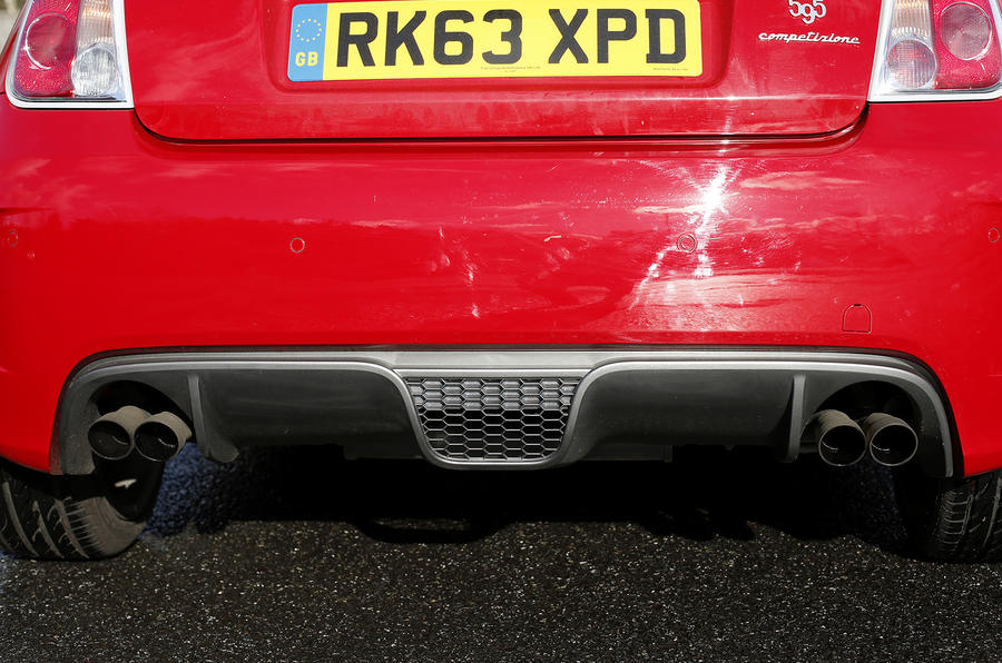 Fiat Abarth 595 quad exhausts