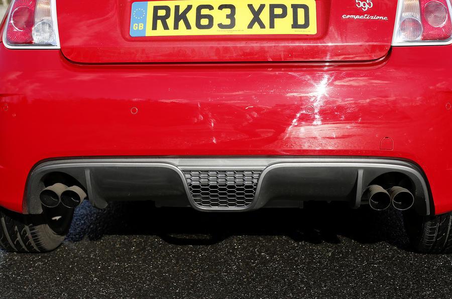 Fiat Abarth 595 quad exhausts