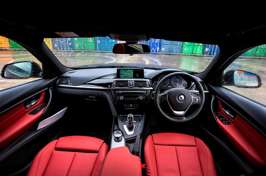 Driver's view of the Alpina D3