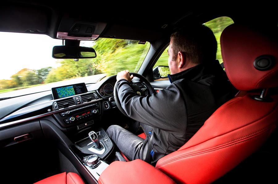 Driving the Alpina D3 hard