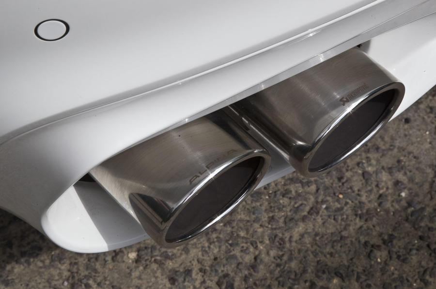 Alpina XD3's Akrapovic quad-exhausts