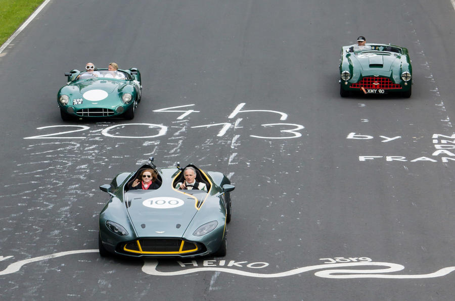 Over 100 Aston Martin cars took part