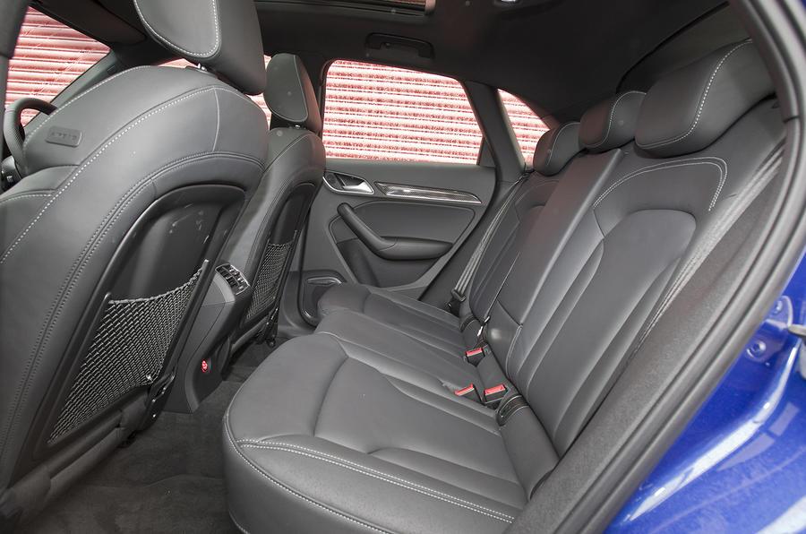Audi RS Q3's rear seats