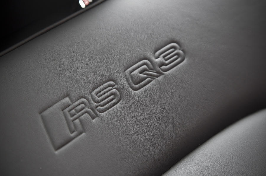Audi RS Q3 seat badges