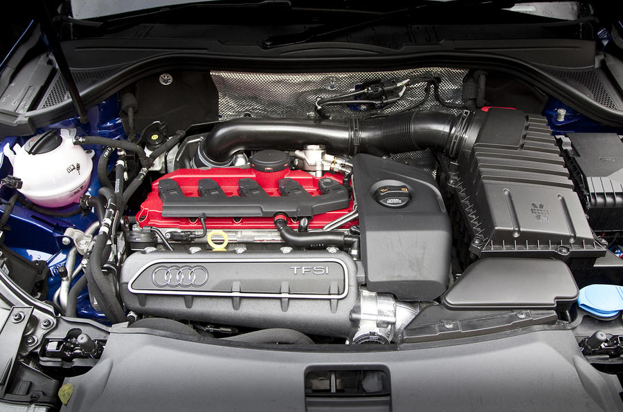 Five-cylinder Audi RS Q3 engine