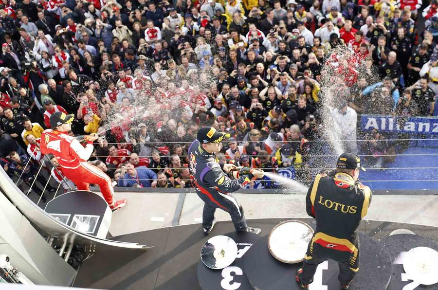 Coming down slowly at the end of F1 2013