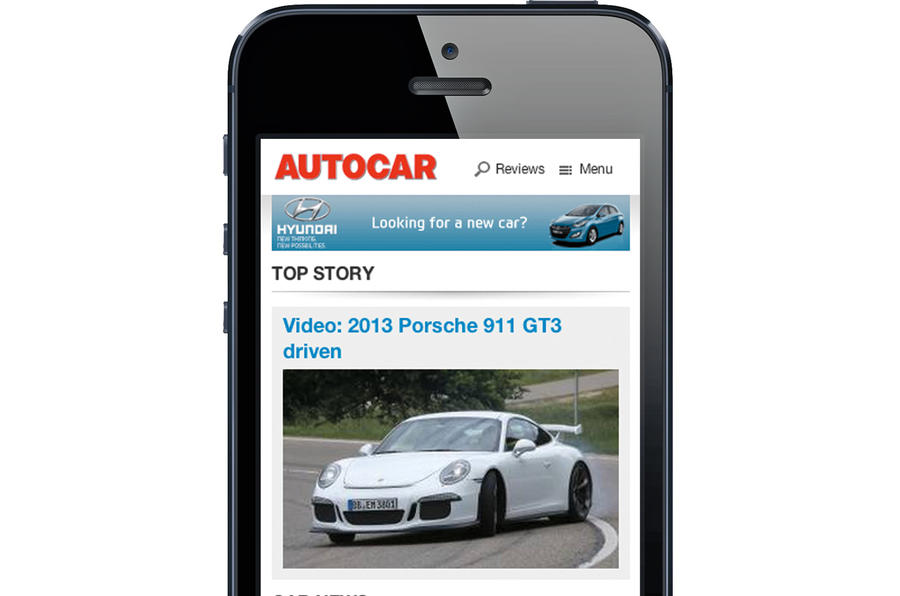 Autocar.co.uk launches mobile website