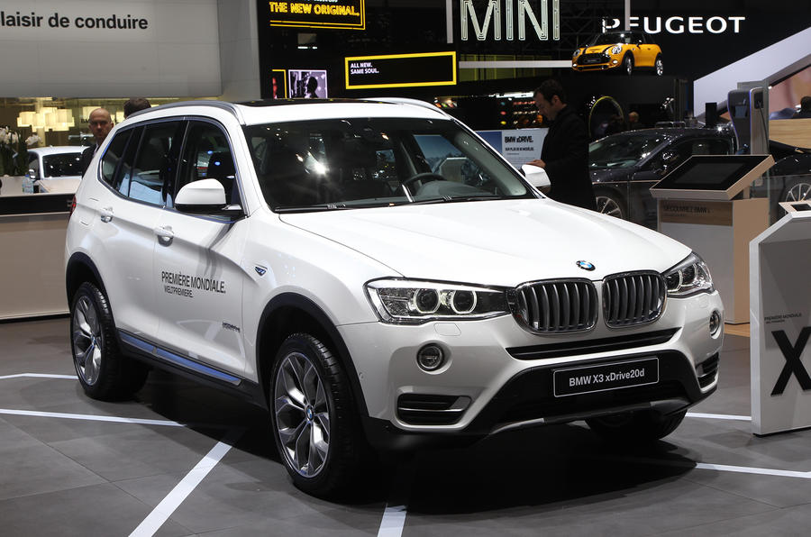 Revised BMW X3 unveiled