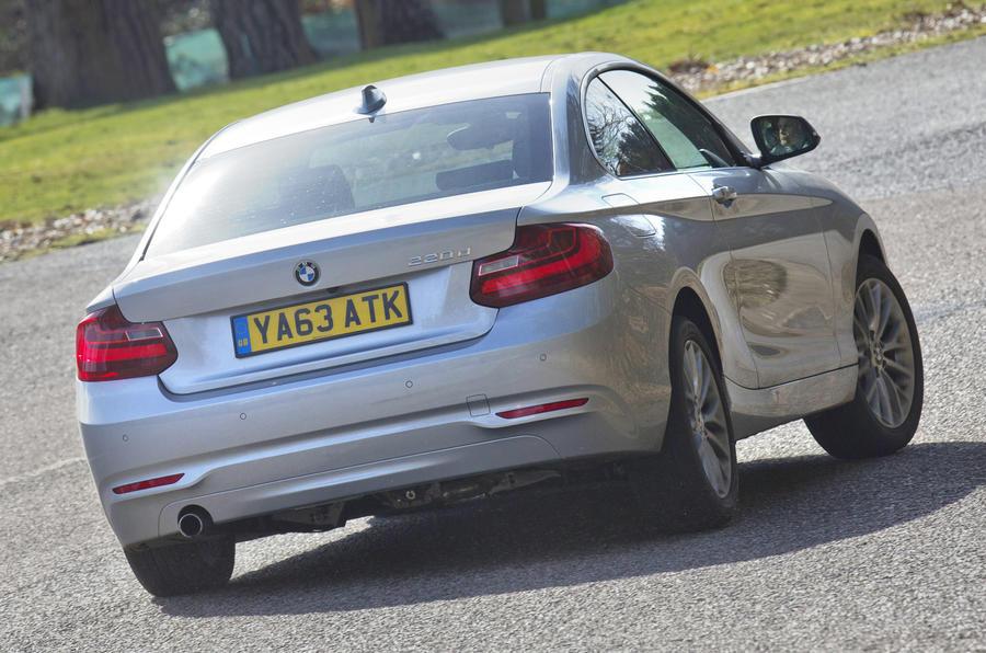 BMW 2 Series rear cornering