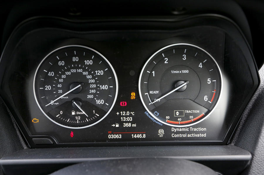 BMW 2 Series instrument cluster