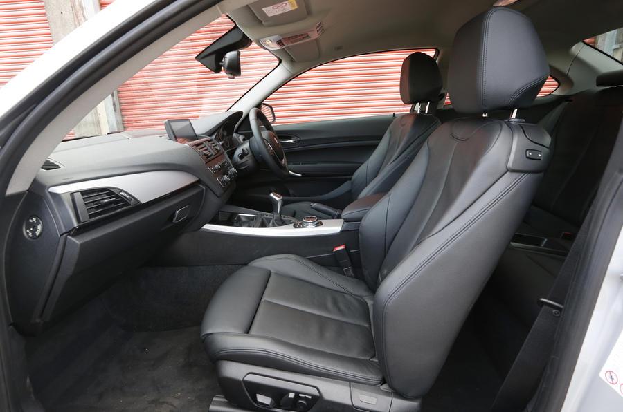 BMW 220d's front seats