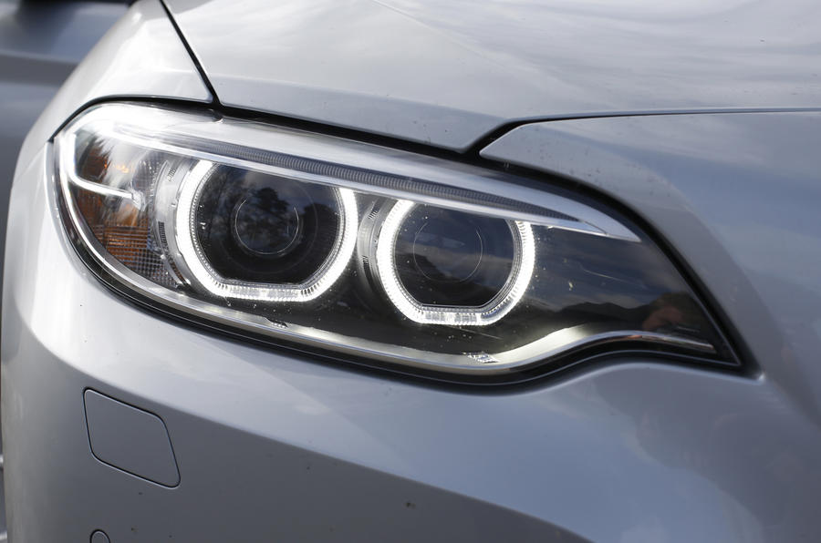 BMW 2 Series aggressive headlights