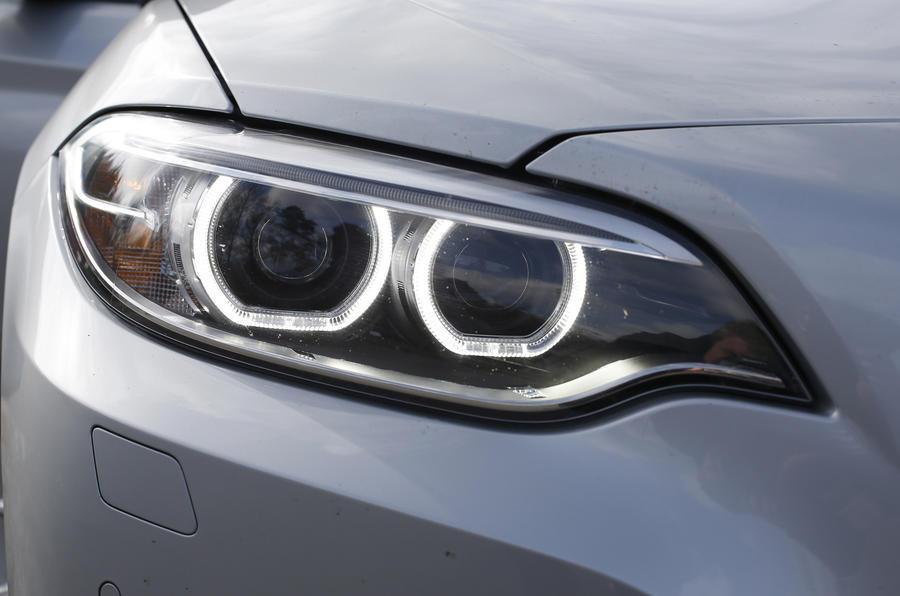 BMW 2 Series aggressive headlights