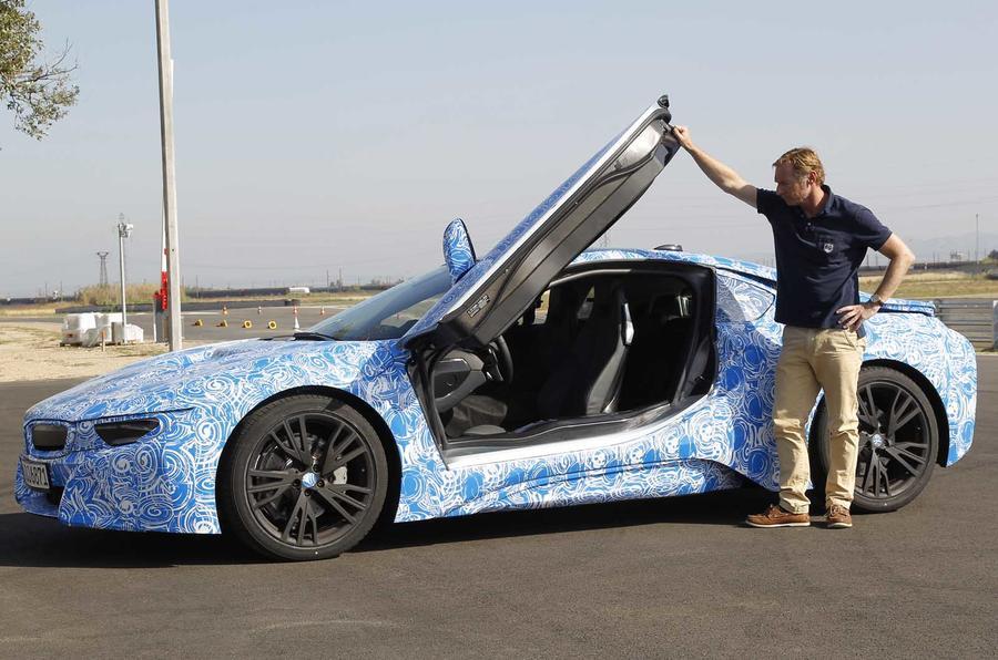 BMW i8 prototype door open