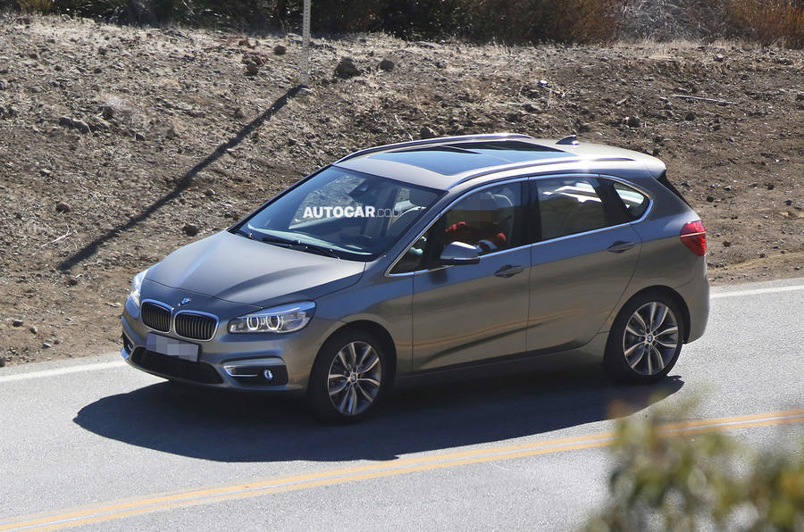 BMW 2-series Active Tourer seen undisguised