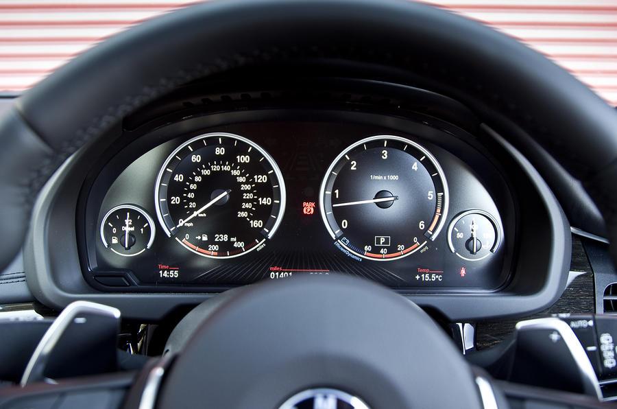 BMW X5 instrument cluster