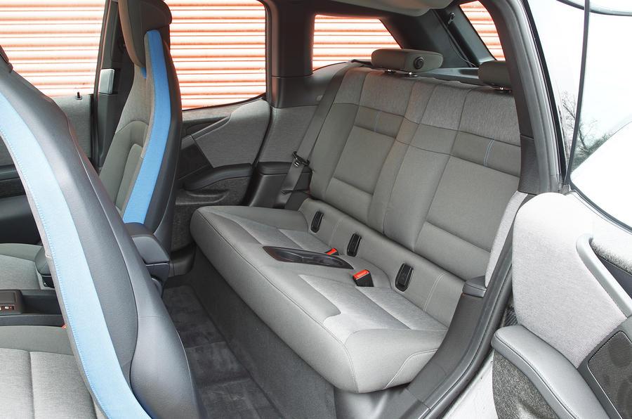 BMW i3's rear seats