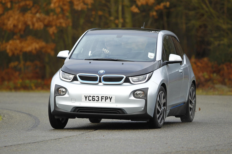 BMW i3 cornering