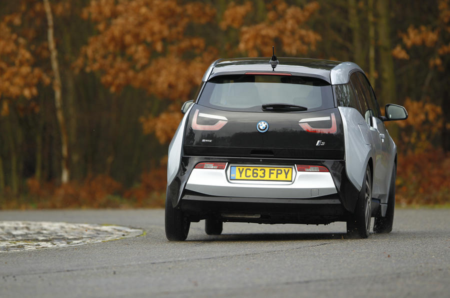 BMW i3 rear cornering
