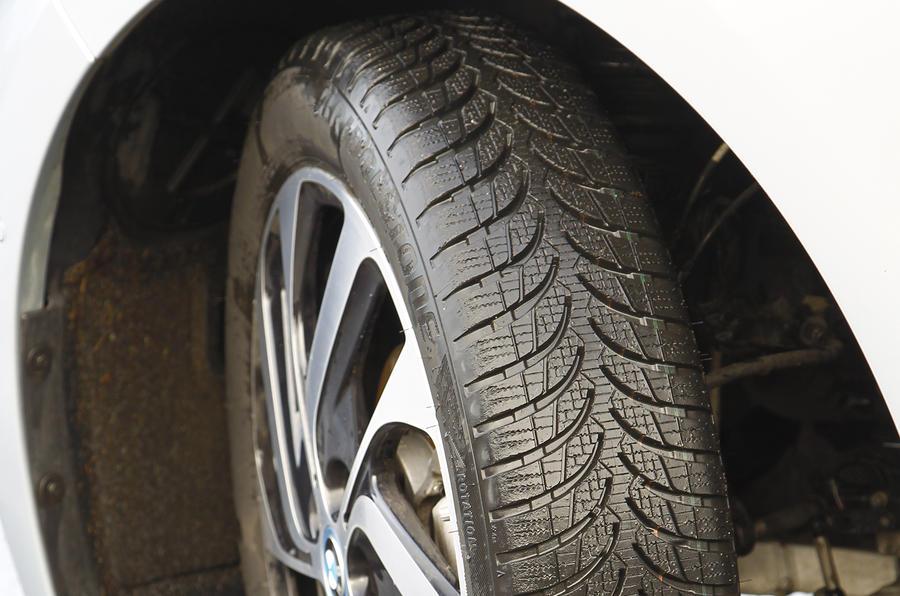 BMW i3's skinny tyres