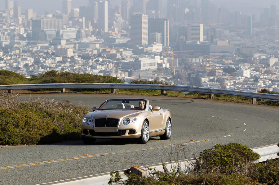 Bentley Continental GTC Speed cornering