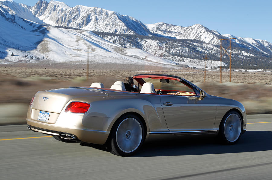 Bentley Continental GTC rear quarter
