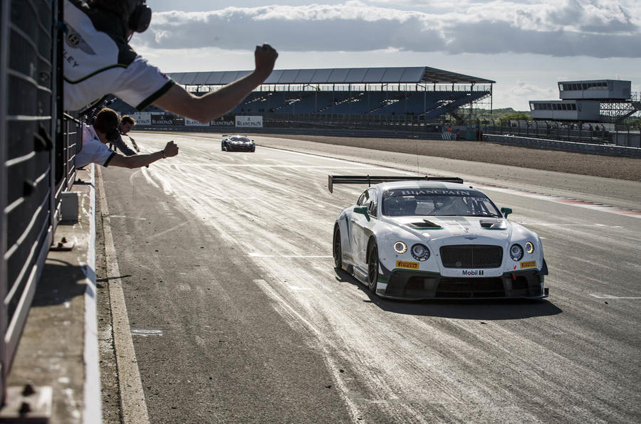 New Bentley Continental GT3 racer claims inaugural victory at Silverstone