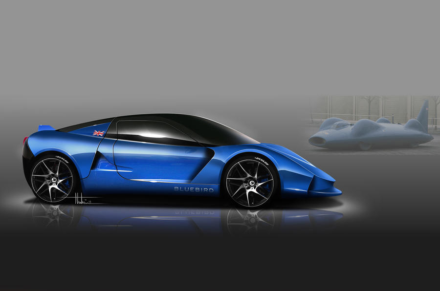 Bluebird to reveal sports car and electric racer in September