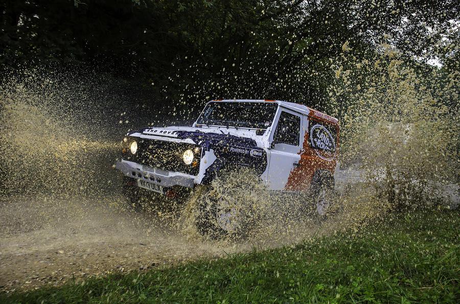 Land Rover Defender Challenge wading